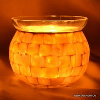 Seap Glass Decorated Votive