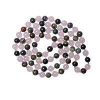 Natural Stone Rose Quartz and Bloodstone Semi-precious Stone Necklace for Positivity