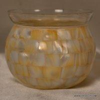 Seap Glass Decorated Votive