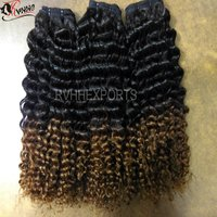 Ombre Color Curly Indian Hair