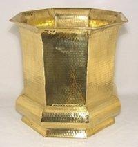 Metal Brass Planter Plant Pot 24 x 27cm