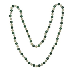 Natural Stone Jade and Yellow Agate Semi-precious Stone Necklace for Positivity