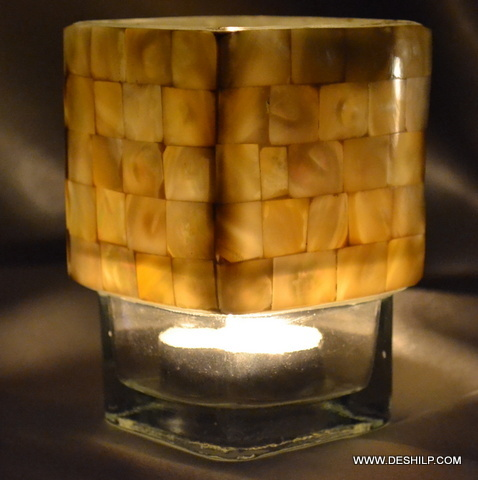 Seap Glass Tea Light Candle Holder