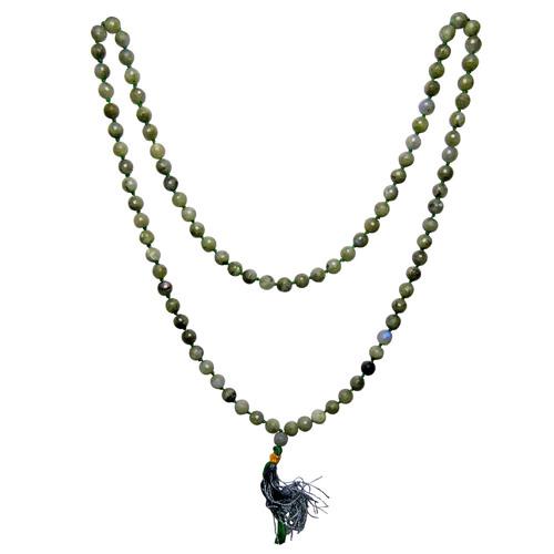Natural Stone Labradorite Semi-Precious Stone Vintage Necklace