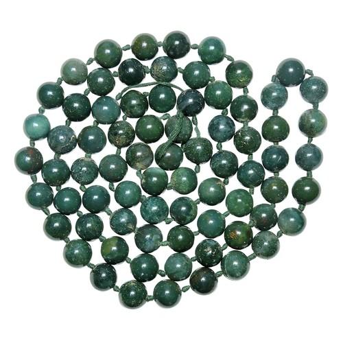 Natural Stone Bloodstone (Heliotrope) necklace