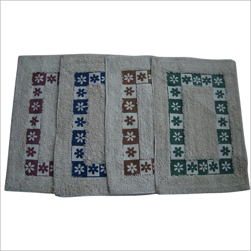 Printed Cotton Bath Mat