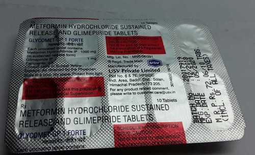 Metformin Hydrocloride Prolong Released Glime Pride Tablets