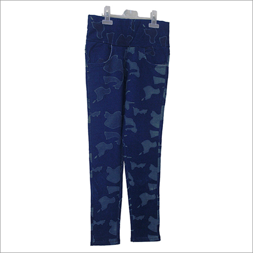 Girls Indigo Fabric Jegging