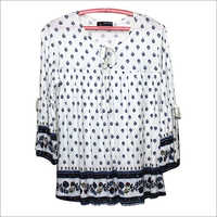 Girls Printed Cotton Top