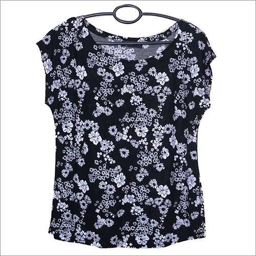 Girls Printed Lycra Top