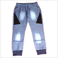 Indigo Lycra Fabric Mens Lower