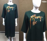RAYON WITH HAND WORK KURTIS