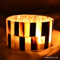 Antique-Style Seap Glass Candle Holder