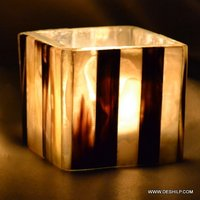 SQUIRE GLASS T LIGHT CANDLE VOTIVE