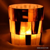 Mercury Seap Glass Candle Holders Handmade Beautiful