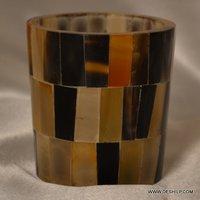 Mercury Seap Glass Candle Holders Handmade Beautiful