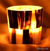 Decorative Seap Glass Candle Holders