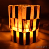 SQUIRE GLASS SEAP CANDLE HOLDER