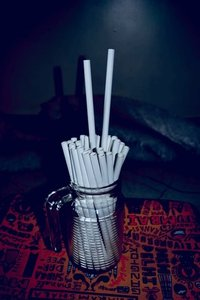 Plain Solid Disposable Paper Straw