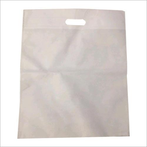 White D Cut Non Woven Bag
