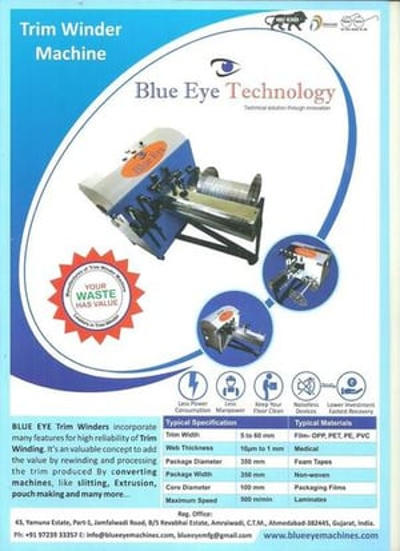 Trim winder for Extrusion lamination Machine
