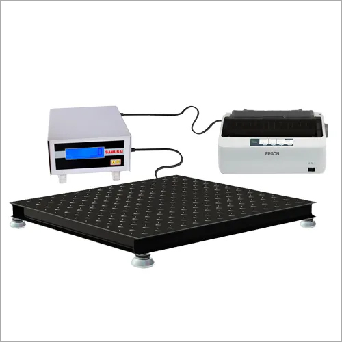 Industrial Heavy Duty Floor Scale With External Printer