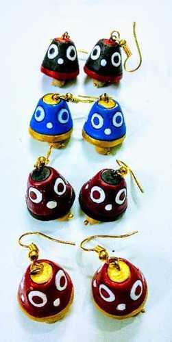 Multicolor Terracotta Earrings