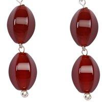 Natural Stone Carnelian Faceted Trendy II Semi-Precious Earring