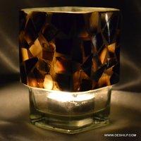 HALF SEAP GLASS DECOR CANDLE VOTIVE