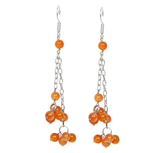 Natural Stone Sardonyx Semi-Precious Earrings