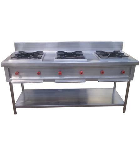 3 Burner Indian Cooking Range