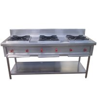 3 BURNER INDIAN COOKING RANGE