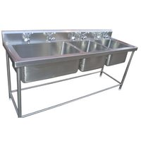 3 Compartment Stainless Steel Commercial Sink Unit