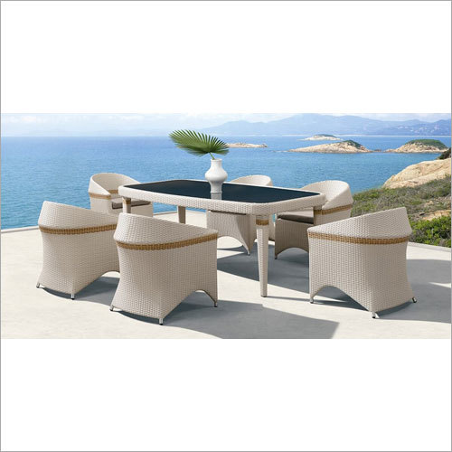 Outdoor Braided Table Chair Set