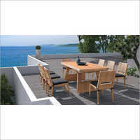 Outdoor Wooden Table Chair Set