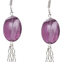 Natural Stone Flourite Semi-Precious Earrings