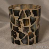 Handmade Decor Seap Glass Candle Holder