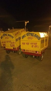 Garbage Waste Bin Mounted on E Rickshaw