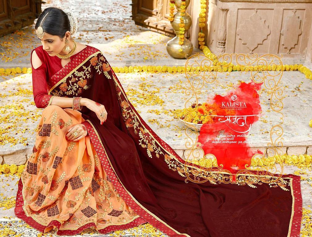 Embroidery Designer Sarees