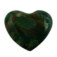 Satyamani Natural Bloodstone Gemstone Heart Puff