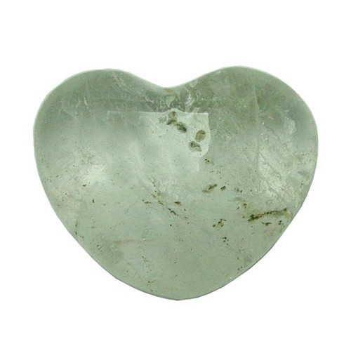 Satyamani Natural Clear Quartz Gemstone Heart Puff