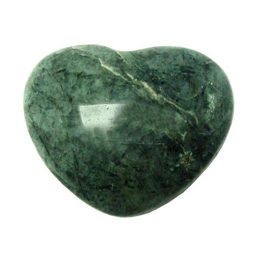 Satyamani Natural Tourmulated Quartz Gemstone Heart Puff