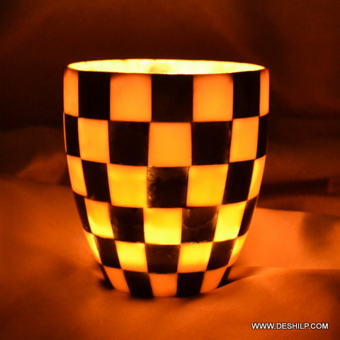 CHASE GAME DESIGN CANDLE HOLDER