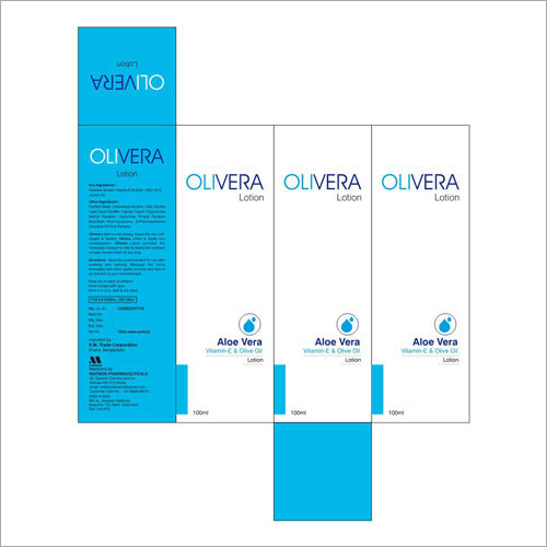 Olivera Aloe Vera Vitamin E Olive Oil Lotion