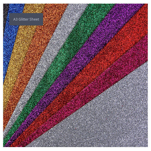 Craft Villa EVA Foam A3 Glitter Sheet