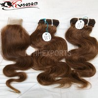 Indian Natural Wave Human Hair Weave Raw Unprocessed Virgin