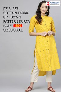 Fabric Up-Down Pattern Cotton Kurti