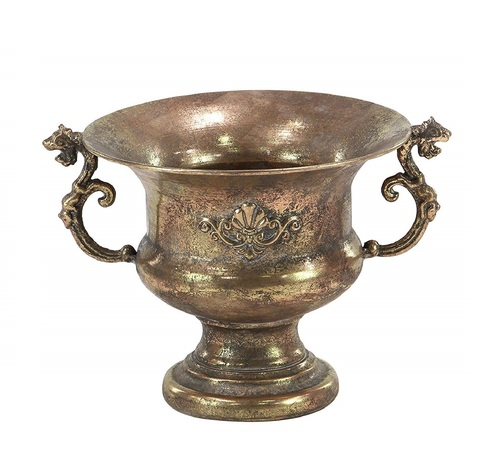 Planter Tarnished Brass