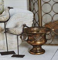 Planter Tarnished Brass