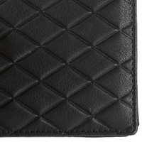 Black Textured Leather Wallet
